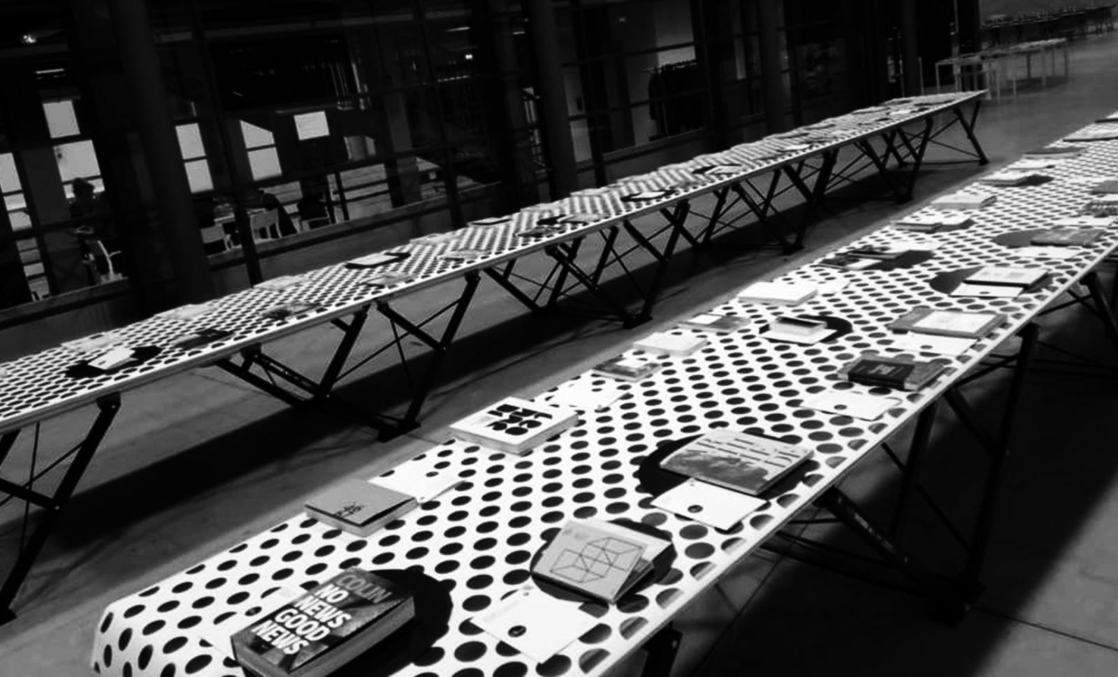 Mostra ABA Aiap Book community, spazio MIL, Sesto San Giovanni, Milano, 2018.