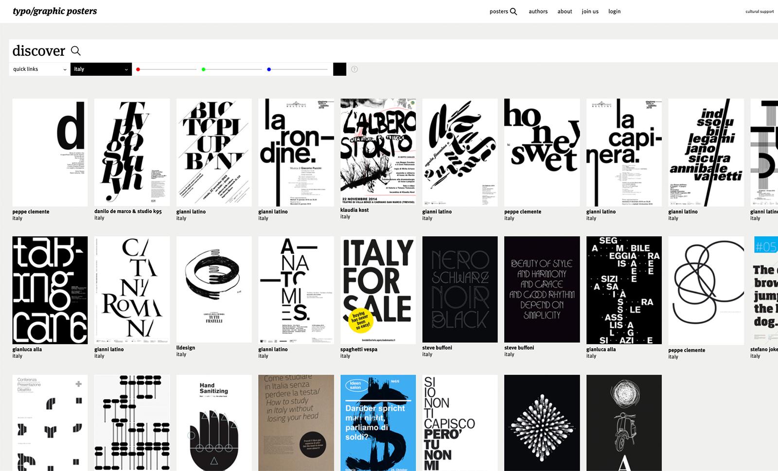 gianni latino typographic posters